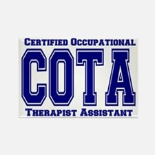 Blue Collegiate COTA Rectangle Magnet