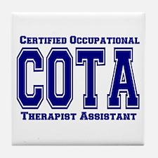 Blue Collegiate COTA Tile Coaster