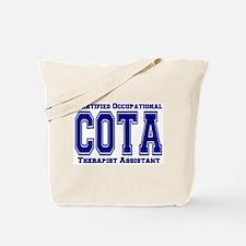 Blue Collegiate COTA Tote Bag