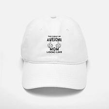 Awesome Mom Looks Like Baseball Baseball Baseball Cap