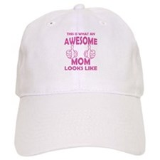 Awesome Mom Looks Like Baseball Baseball Cap