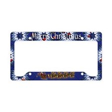 Harvest Moons Folk Santa License Plate Holder