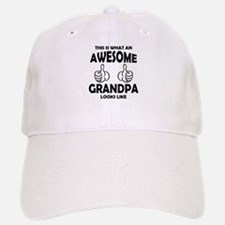 Awesome Grandpa Looks Like Baseball Baseball Baseball Cap