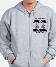 Awesome Grandpa Looks Like Zip Hoodie