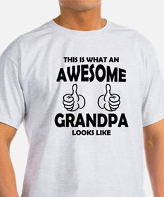 Awesome Grandpa Looks Like T-Shirt