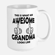 Awesome Grandma Looks Like Mugs