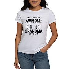 Awesome Grandma Looks Like T-Shirt