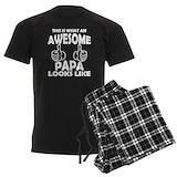 Nana and papa Men's Dark Pajamas