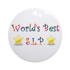 Worlds Best SLP Ornament (Round)