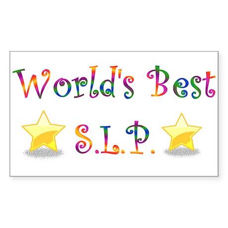 Worlds Best SLP Rectangle Sticker