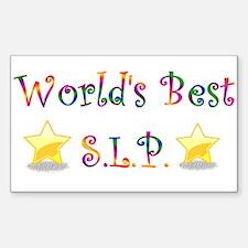Worlds Best SLP Rectangle Stickers