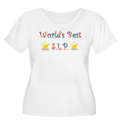 Worlds Best SLP Women's Plus Size Scoop Neck T-Shi