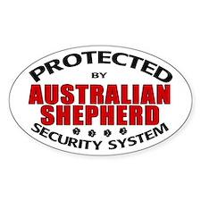 Australian Shepherd Security Oval Decal