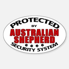 Australian Shepherd Security Oval Decal