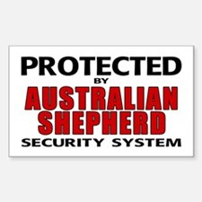 Australian Shepherd Security Rectangle Decal
