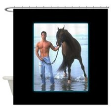 The Horseman Shower Curtain