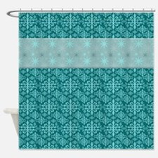 Turquoise Wrapping Shower Curtain