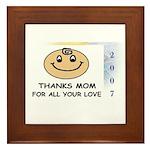 THANKS MOM FOR ALL YOUR LOVE   Framed Tile