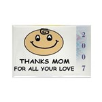THANKS MOM FOR ALL YOUR LOVE Rectangle Magnet