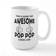 Awesome Pop Pop Looks Like Mugs