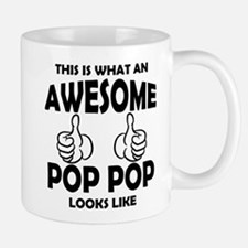 Awesome Pop Pop Looks Like Mugs