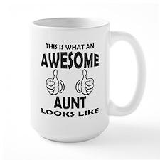 Awesome Aunt Looks Like Mugs