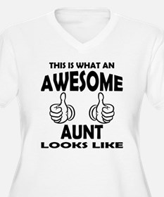 Awesome Aunt Looks Like Plus Size T-Shirt