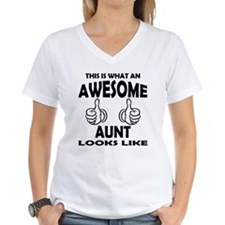 Awesome Aunt Looks Like T-Shirt