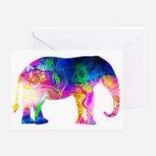 Cool spaghetti Elephant Greeting Cards