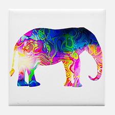 Cool spaghetti Elephant Tile Coaster