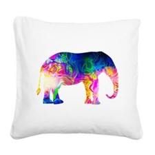 Cool spaghetti Elephant Square Canvas Pillow