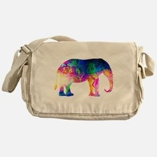 Cool spaghetti Elephant Messenger Bag