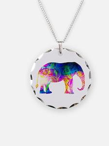 Cool spaghetti Elephant Necklace