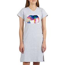 Cool spaghetti Elephant Women's Nightshirt