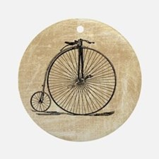 Vintage Penny Farthing Bicycle Ornament (Round)