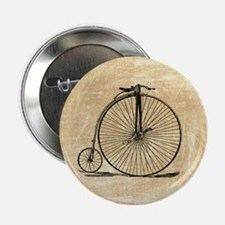 """Vintage Penny Farthing Bicycle 2.25"""" Button"""