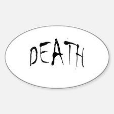 Death Halloween Oval Decal