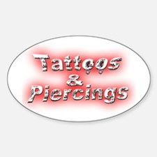 Tats & Rings Oval Decal