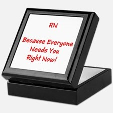 Funny Rn Nurse Means Right Now Keepsake Box