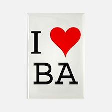 I Love BA Rectangle Magnet