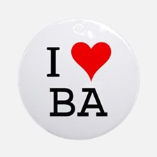 I Love BA Ornament (Round)
