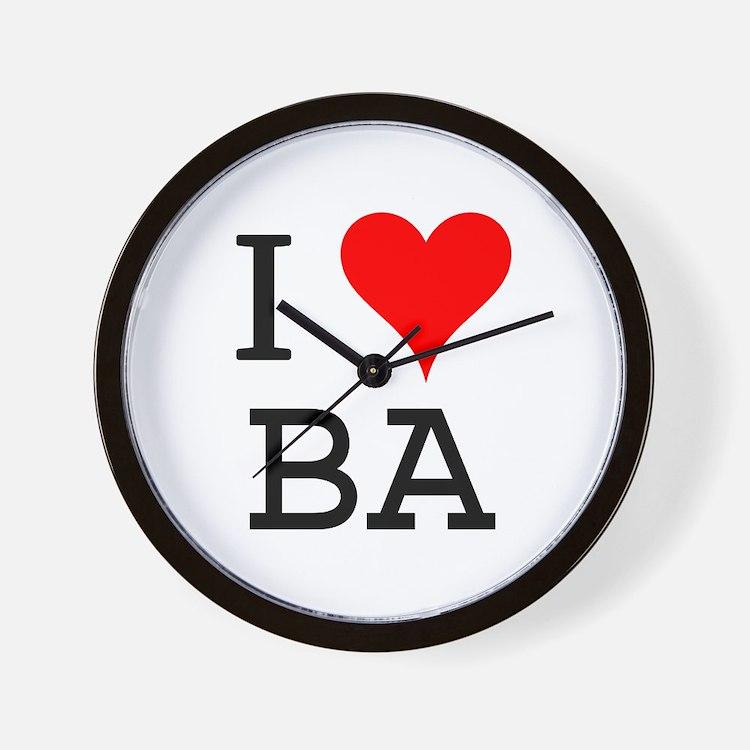 I Love BA Wall Clock
