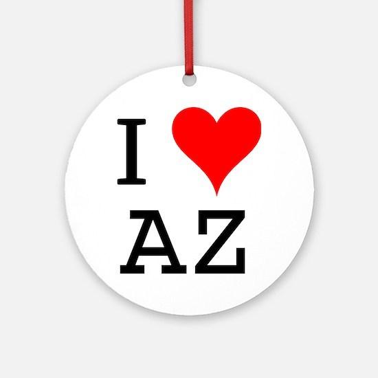 I Love AZ Ornament (Round)