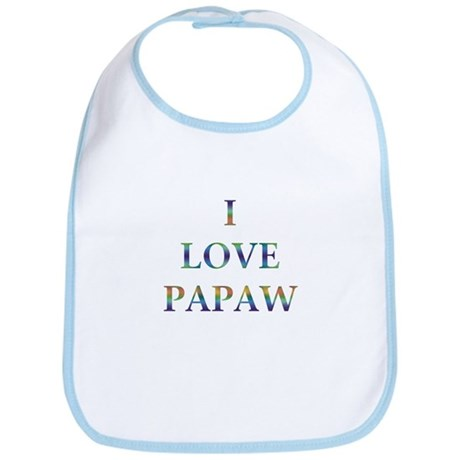 I Love Papaw Bib