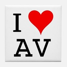 I Love AV Tile Coaster