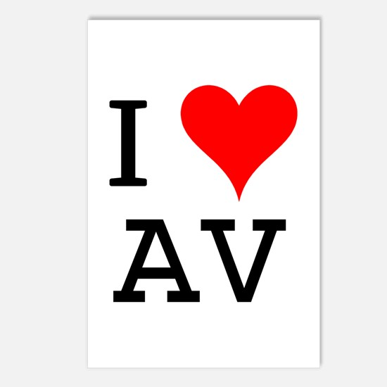 I Love AV Postcards (Package of 8)