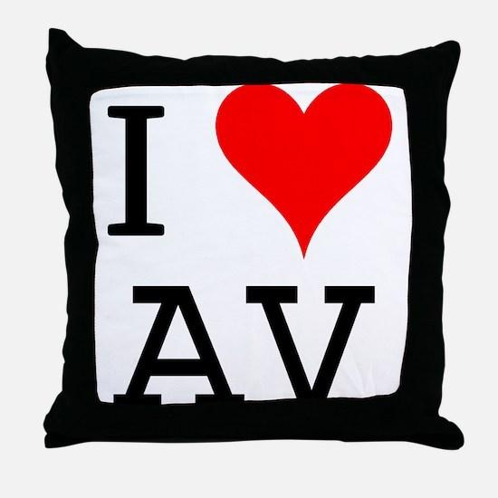 I Love AV Throw Pillow