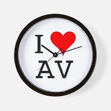 I Love AV Wall Clock