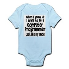 WIGU Computer Programmer Uncle Infant Bodysuit