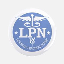 "Caduceus LPN 3.5"" Button"